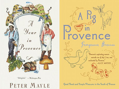 Book covers for A Year in Provence and A Pig in Provence