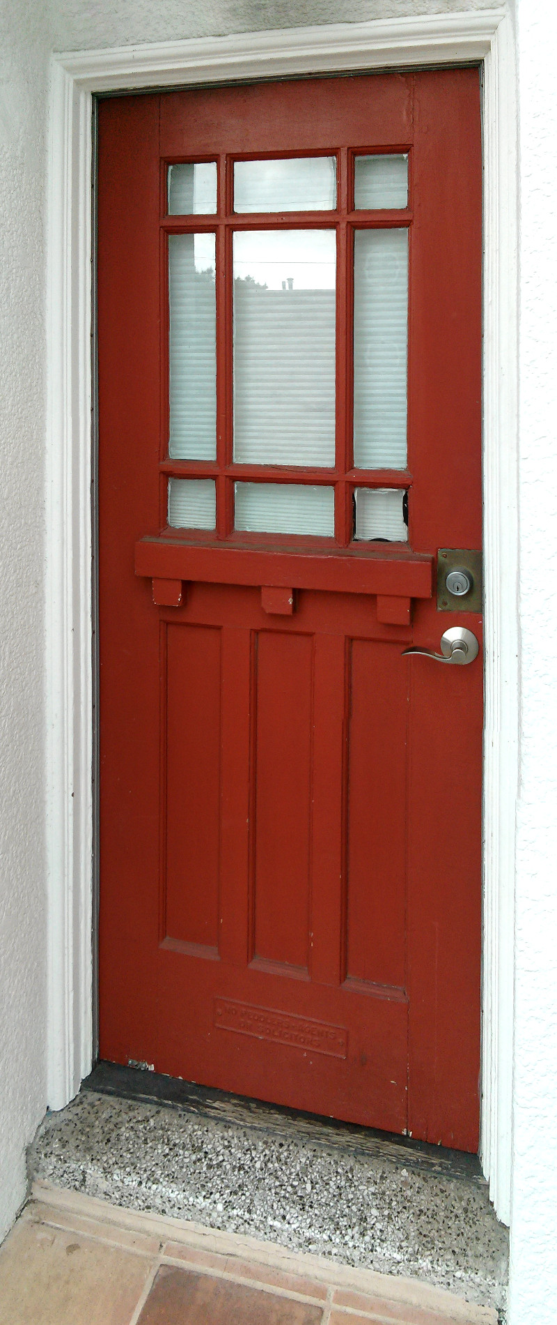 Front door before replacement