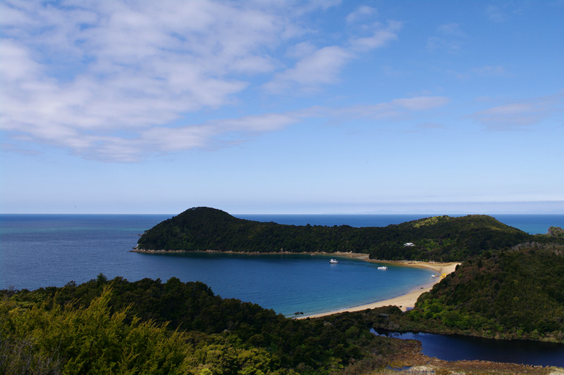 Clouds over Anchorage Bay at the Abel Tasman Coast Track