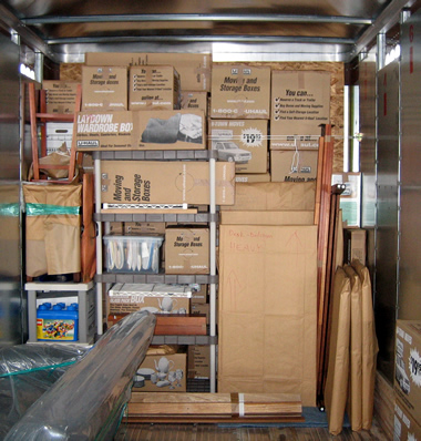 boxes in the abf u-pack truck