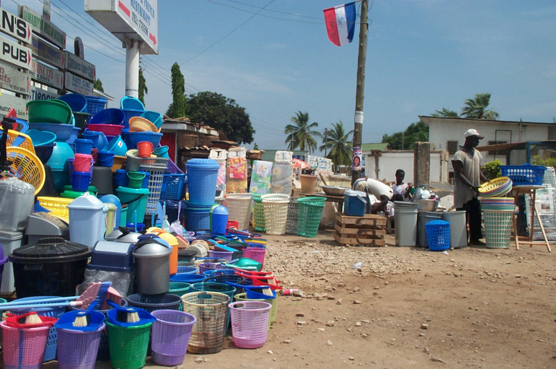 accra ghana colorful plastic waste bins for sale