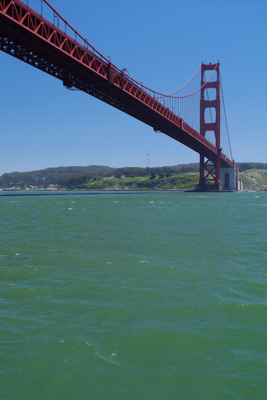The south tower of the Golden Gate Bridge