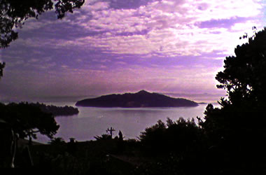Angel Island in the morning, seen from the Sausalito hills