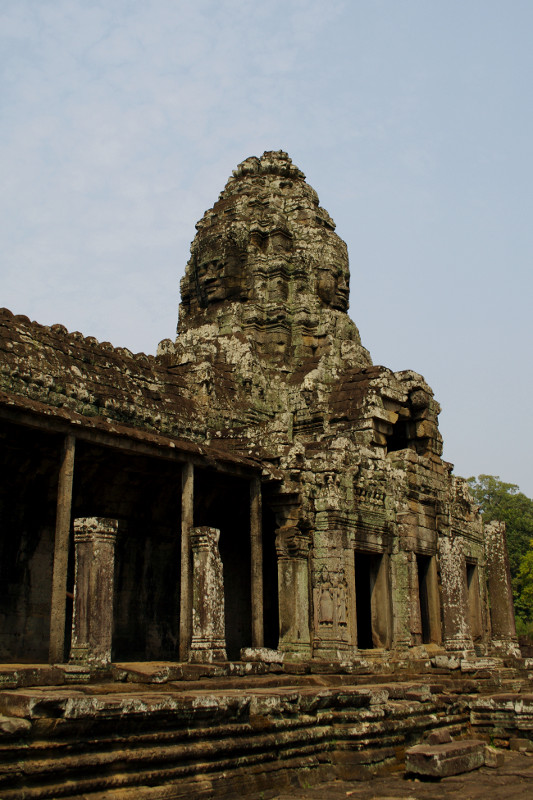 One of the Bayon temple's smiling towers
