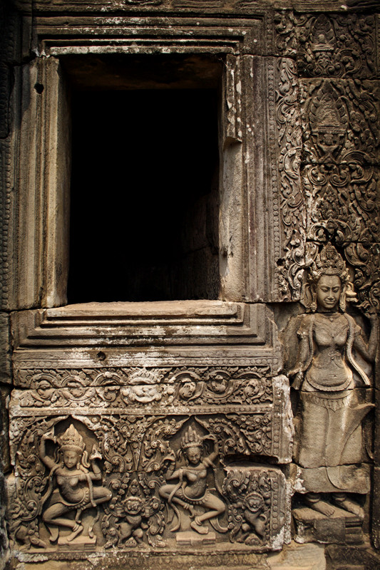 Intricate details cover every surface of the Bayon temple