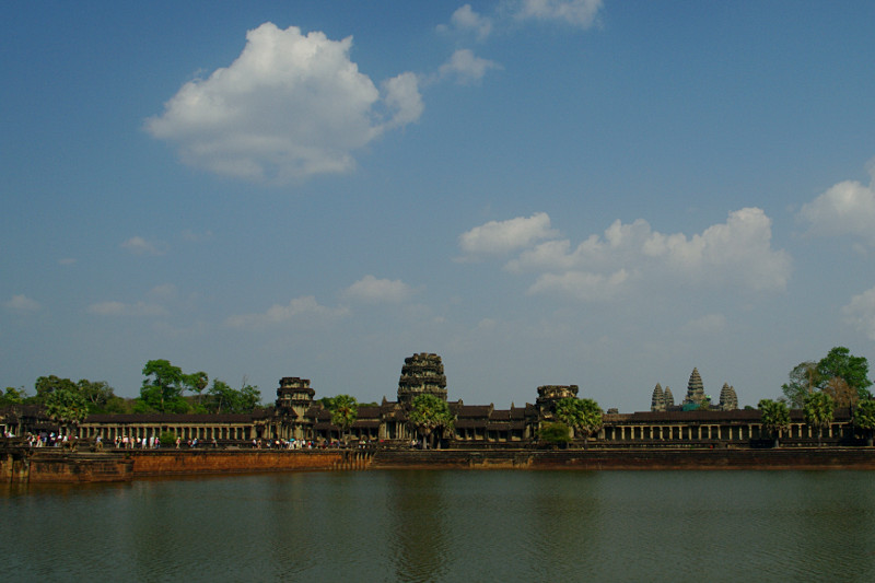 The expansive Angkor Wat from across the moat