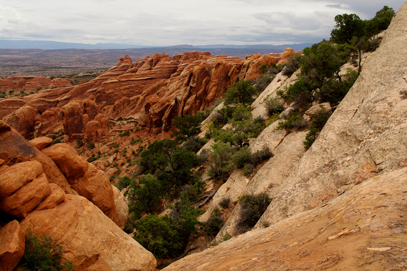 Devils Garden Primitive Loop landscape at Arches National Park