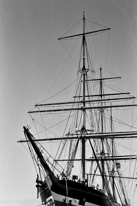 Extensive rigging on the Balclutha