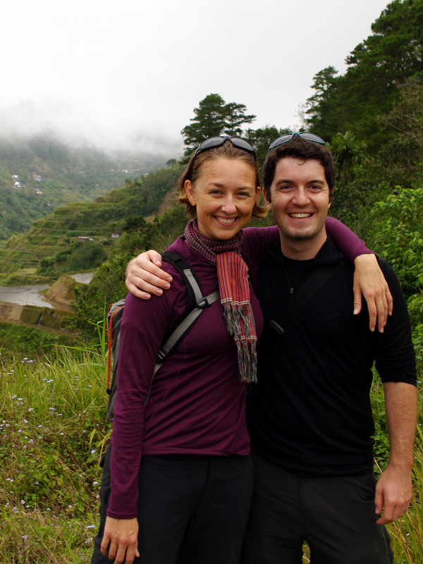 Stephanie and Justin at the Banaue Rice Terraces