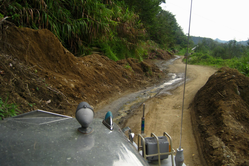More landslide debris on the way to Batad, Philippines