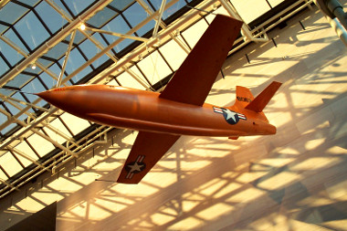 Bell X-1 hanging in the National Air and Space Museum