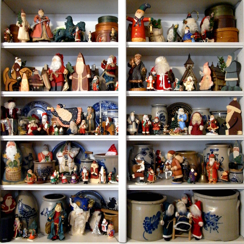 Some of my mom's Santa Claus collection