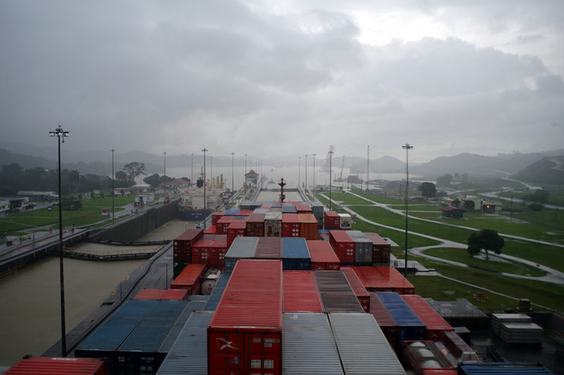 Waiting for the Pedro Miguel Locks of the Panama Canal to open