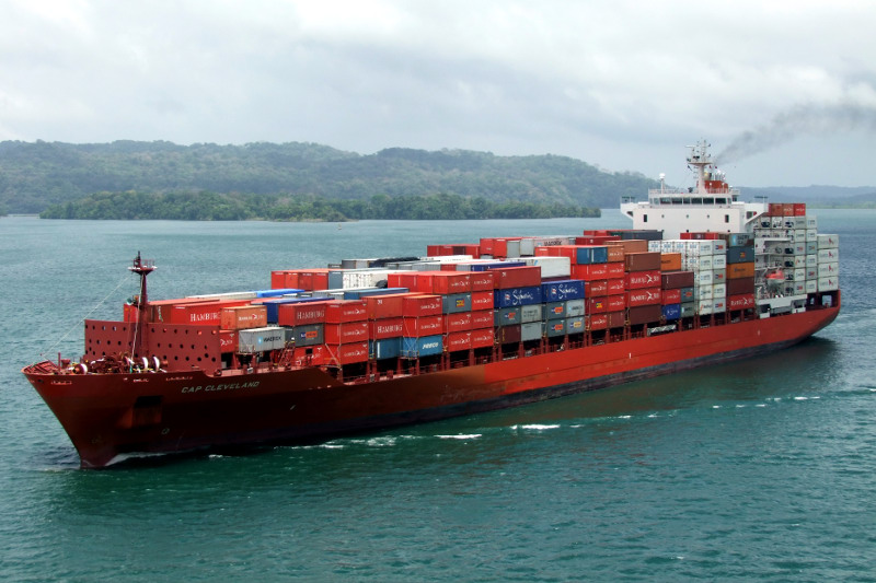 Cap Cleveland container ship westbound transit of the Panama Canal, © Knut Helge Schistad