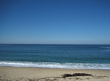 View of the Pacific from Carmel River State Beach in California