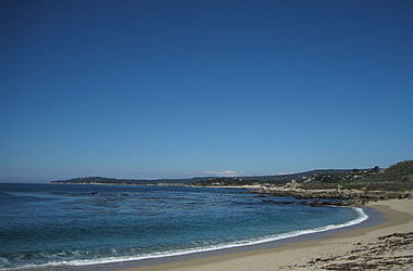 View toward Carmel from Carmel River State Beach