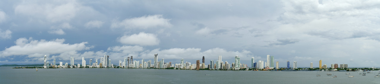 Cartagena, Colombia skyline panorama