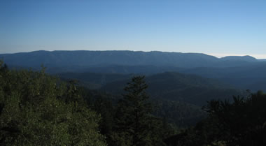 View of the Santa Cruz Mountains from Castle Rock State Park