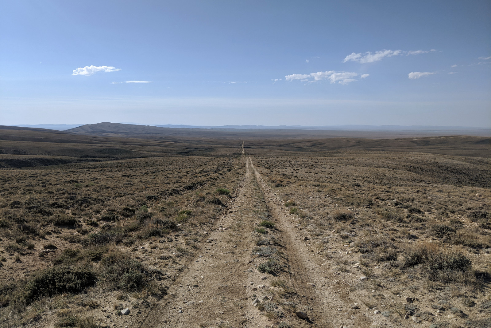 View of the CDT between South Pass and Rawlins, Wyoming
