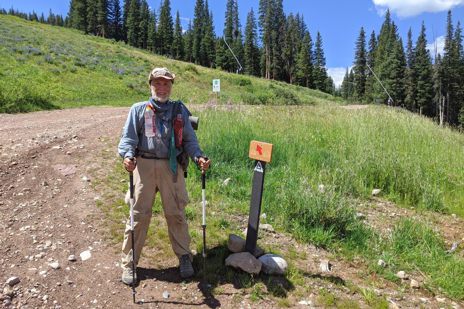 Tartan rejoins the official CDT route (and the Colorado Trail) at Copper Mountain