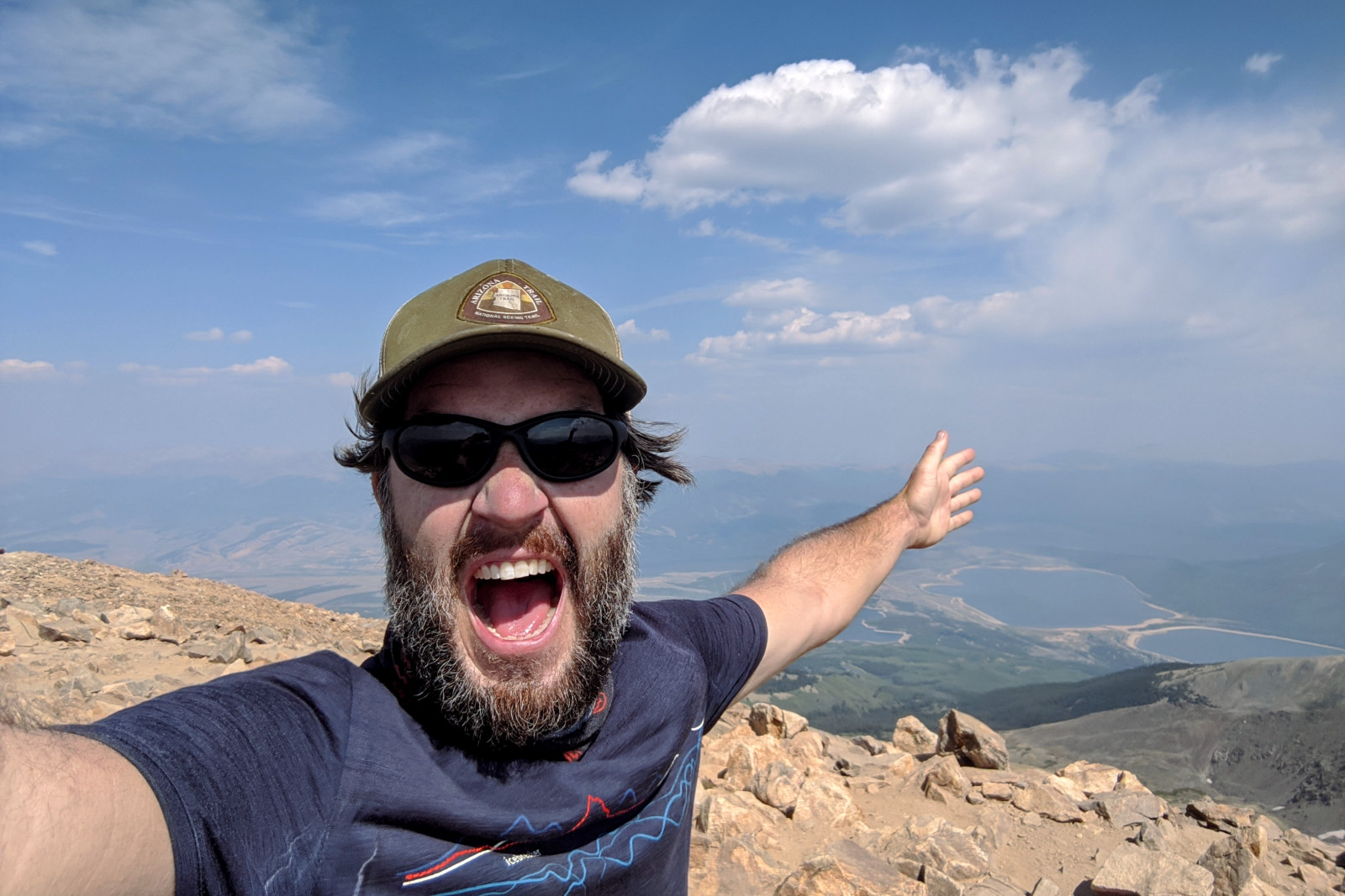 Justin at the summit of Mount Elbert