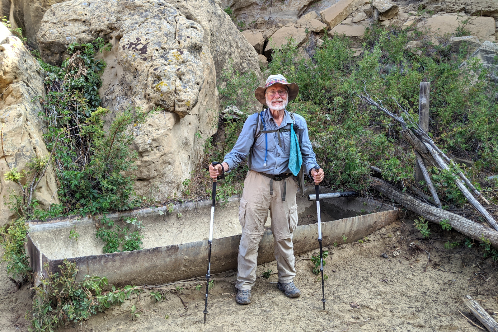 Dad (aka Tartan) returning to the spring, 15 miles south of Cuba, New Mexico
