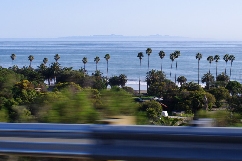 The Channel Islands as seen from US-101, near Santa Barbara