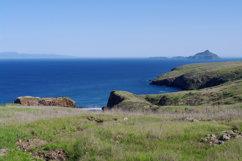 View of Anacapa Island from Santa Cruz Island, both part of Channel Islands National Park