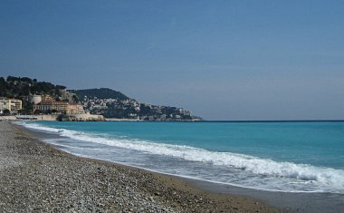 Chateau de Nice as seen from the beach