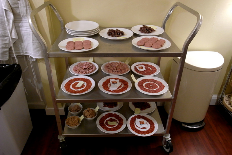 Charcuterie cart from Fatted Calf