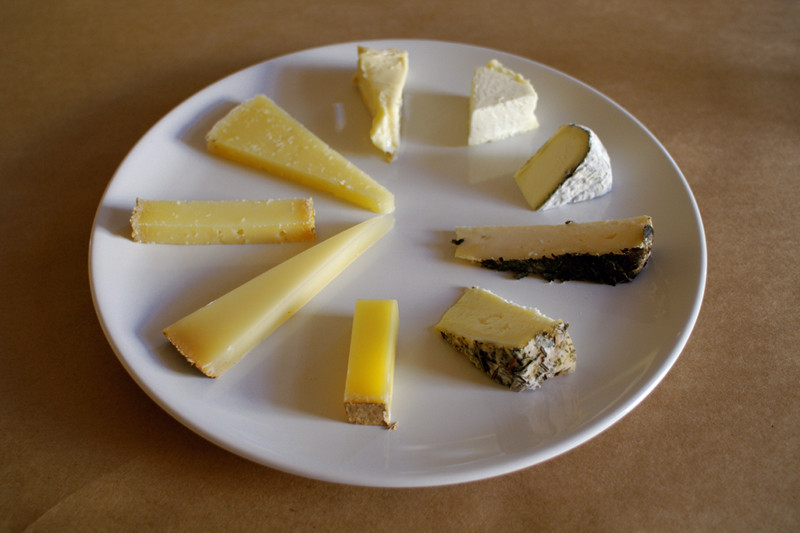 Cheese plate to pair with rosé wines