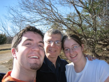 Justin, Dad, and Katie, at McKinney Falls State Park