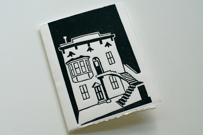 Finished print of our condo (as a card)