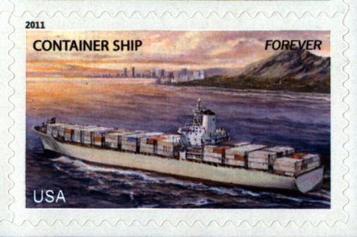 USPS Container Ship Forever Stamp