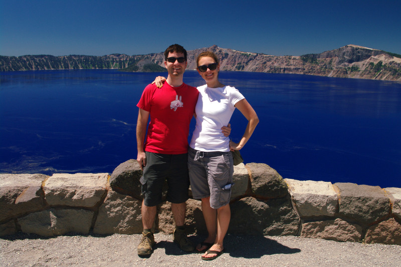 Justin and Stephanie at Crater Lake National Park
