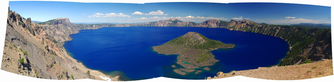 Panorama of Crater Lake National Park
