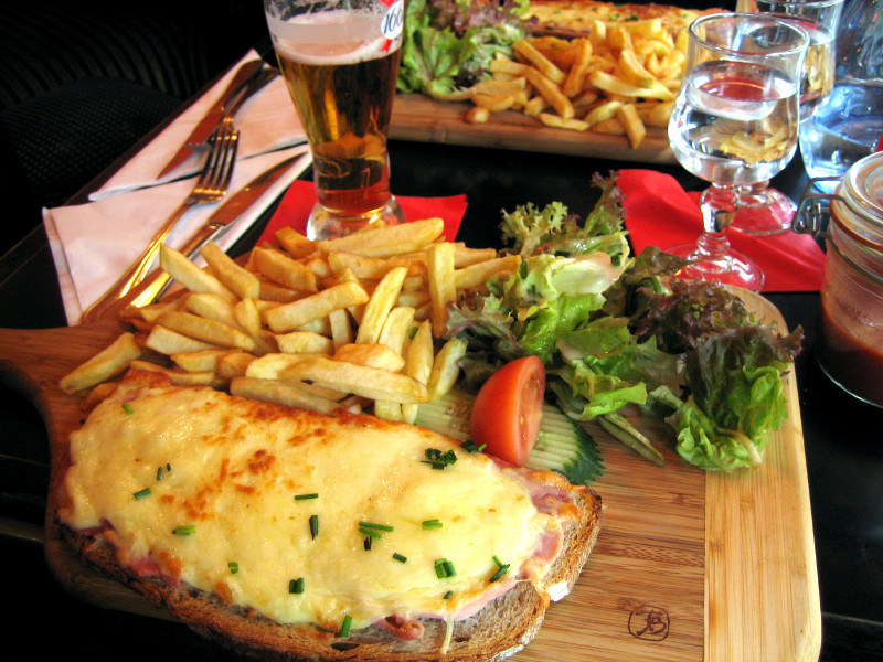 Croque-monsieur at Le Mondrian in Paris