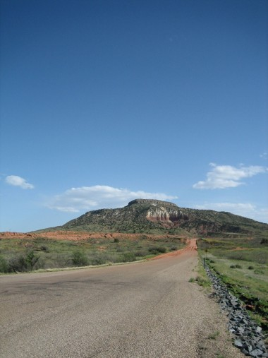 a neat looking mountain outside tucumcari, new mexico
