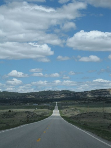 hilly highway vista in northern new mexico
