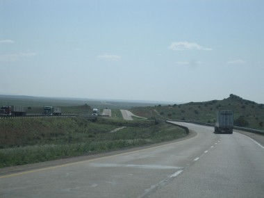 landscape changes as i leave texas and enter new mexico