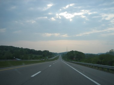 on the road in tennessee, heading towards clarksville
