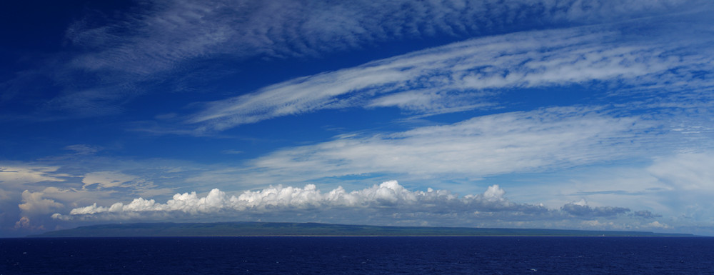 Panorama of the eastern tip of Cuba, as seen from the Cap Cleveland