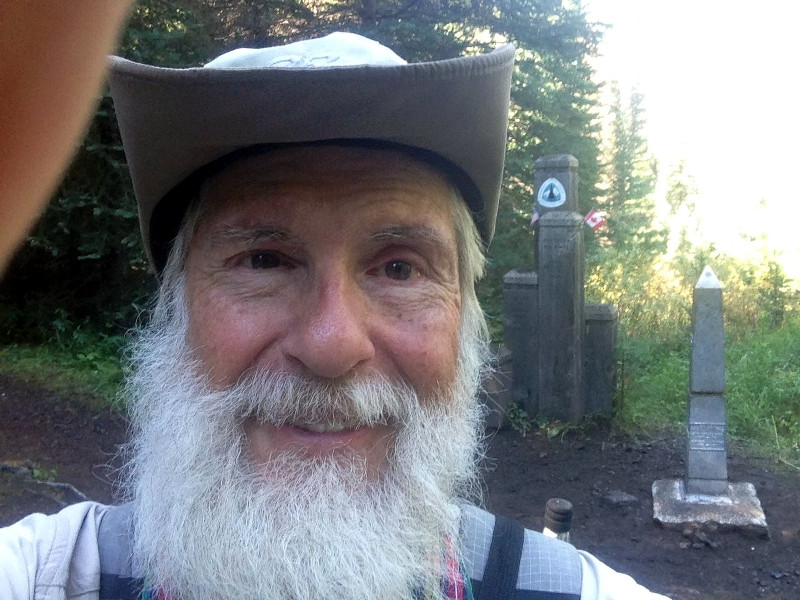 Dad at the end of the PCT