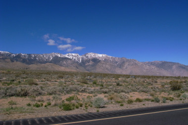 The east side of the Sierra Nevadas