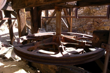 Inside the top of the Keane Wonder Mine tramway