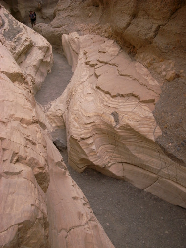 Carved out wash of Mosaic Canyon