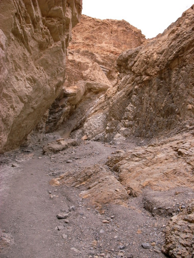 Reaching the end of Mosaic Canyon