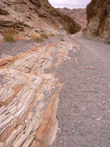 Striped walls of Mosaic Canyon