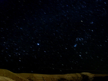 Three minute exposure of the night sky over Death Valley