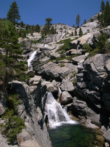 Horsetail Falls in Desolation Wilderness